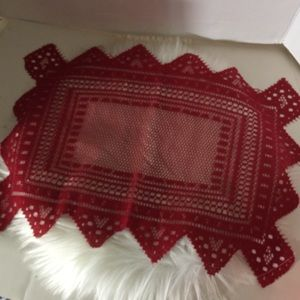 Red Lace Placemats set of eight
